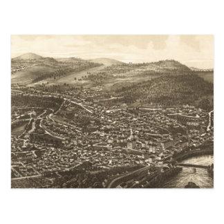 Vintage bildhafte Karte von Brattleboro VT (1886)