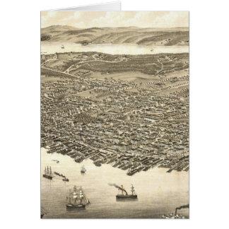Vintage bildhafte Karte von Halifax (1879)