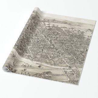 Vintage bildhafte Karte von Richmond Indiana Geschenkpapier
