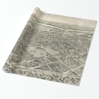Vintage bildhafte Karte von Rutherford NJ (1904) Geschenkpapier