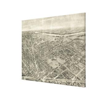 Vintage bildhafte Karte von Rutherford NJ (1904) Leinwanddruck