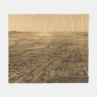 Vintage bildhafte Karte von San Jose CA (1875) Fleecedecke