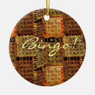 Vintage Bingo-Kartenillustrationen - Verzierung Rundes Keramik Ornament