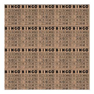 Vintage Bingokarten Poster