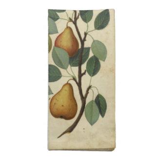 Vintage Birnen-Servietten-botanische Stoffserviette