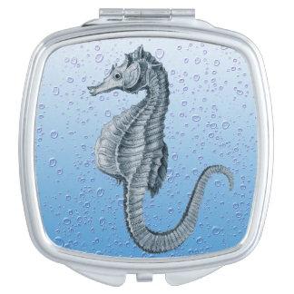 Vintage Blasen des Seepferds Taschenspiegel