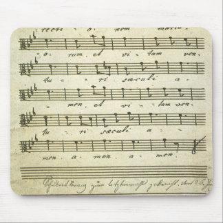 Vintage Blatt-Musik, antike musikalische Kerbe Mousepads