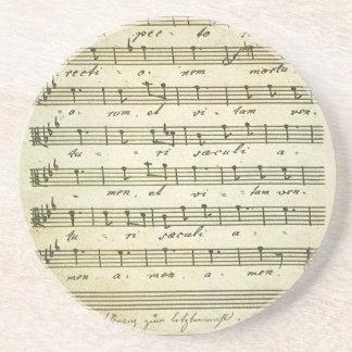 Vintage Blatt-Musik, antike musikalische Kerbe Sandstein Untersetzer