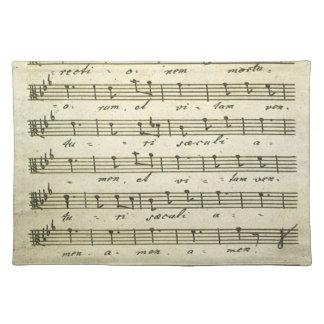 Vintage Blatt-Musik, antike musikalische Kerbe Stofftischset