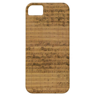 Vintage Blatt-Musik durch Johann Sebastian Bach Hülle Fürs iPhone 5