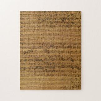 Vintage Blatt-Musik durch Johann Sebastian Bach Puzzle