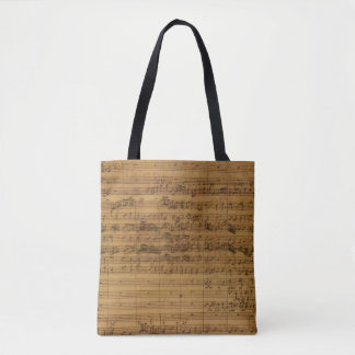Vintage Blatt-Musik durch Johann Sebastian Bach Tasche