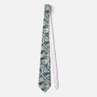 Vintage Blatt-Musik-Muster-Krawatte Bedruckte Krawatte