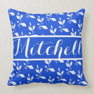 Vintage blaue Eiche personalisiert Kissen