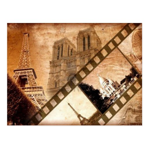 Vintage Blickpostkarte Paris Postkarte