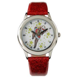 Vintage Blickuhr des retro Weihnachtsrens Armbanduhr