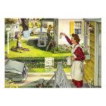 Vintage Block-Party-Nachbar-offenes Haus-Einladung
