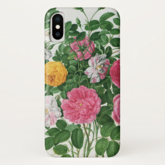 Vintage blühende Blumen, Frühlings-Garten-Rosen iPhone X Hülle