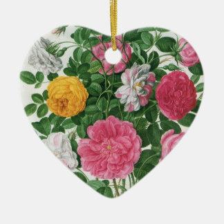 Vintage blühende Blumen, Frühlings-Garten-Rosen Keramik Ornament