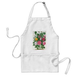 Vintage blühende Blumen, Frühlings-Garten-Rosen Schürze