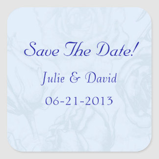 Vintage Blume, die Save the Date Wedding ist Quadratischer Aufkleber