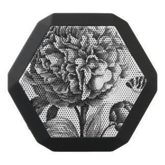 Vintage Blumen-Ätzung Schwarze Bluetooth Lautsprecher