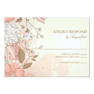 Vintage Blumen-Frühlings-Garten-Hochzeit UAWG 8,9 X 12,7 Cm Einladungskarte