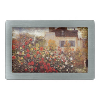 Vintage Blumen monet Garten-in-Argenteuilsonne Rechteckige Gürtelschnallen