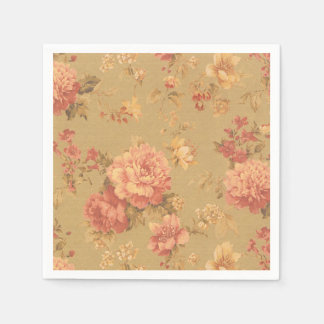 Vintage Blumen Papierserviette