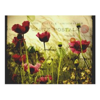 Vintage Blumen Postkarte