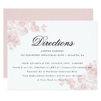 Vintage Blumen| Richtungskarte 10,8 X 14 Cm Einladungskarte