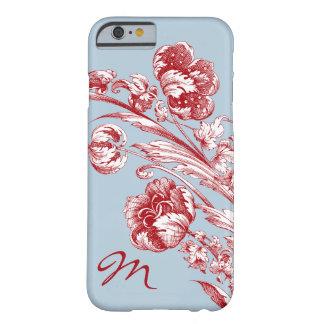 Vintage Blumen, Rot, weißes und Blau, Barely There iPhone 6 Hülle