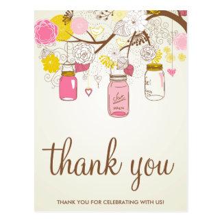 Vintage Blumen u. Maurer-Gläser danken Ihnen Postkarten