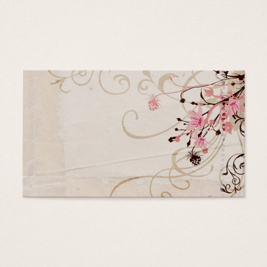 vintage blumen visitenkarte zazzle. Black Bedroom Furniture Sets. Home Design Ideas