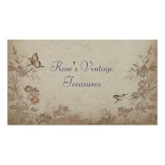 Vintage Blumenbeige Visitenkarten