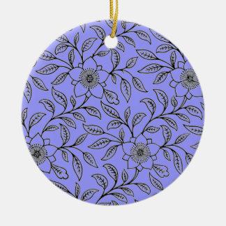 Vintage BlumenBlumen-runde Verzierungen Rundes Keramik Ornament