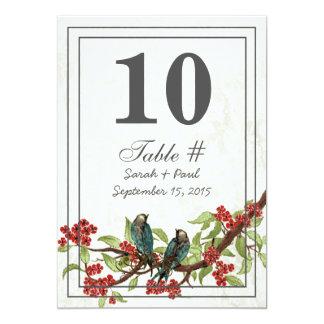 Vintage Blumendamast-Hochzeits-Tabelle nein Karte