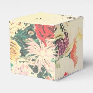 Vintage BlumendruckGastgeschenk Hochzeit packt Geschenkkartons