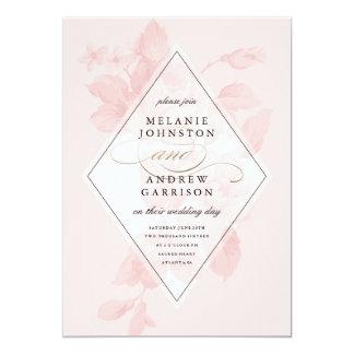 Vintage BlumenImitatfolien-Hochzeitseinladung 12,7 X 17,8 Cm Einladungskarte