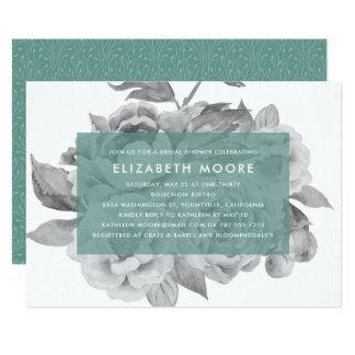 Vintage Blumenjade der Brautparty-Einladungs-  12,7 X 17,8 Cm Einladungskarte