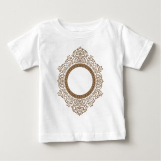 Vintage Blumenkreis-Verzierung Baby T-shirt