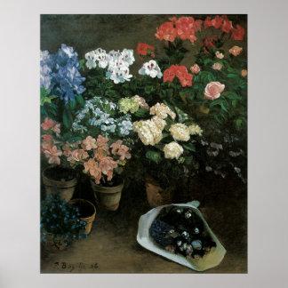 Vintage Blumenkunst, Studie der Blumen durch Poster