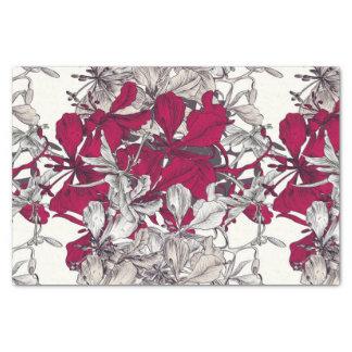 Vintage Blumenmalerei eleganter Nouveau Kunst Seidenpapier
