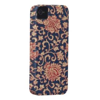 Vintage Blumenmarine-rotes BlackBerry mutiges iPhone 4 Etuis