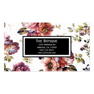 Vintage Blumenmuster-Geschäfts-Karten Visitenkarten