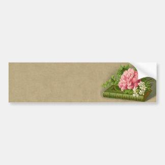 Vintage Blumenpfingstrosen-nobles Buch elegant Autoaufkleber