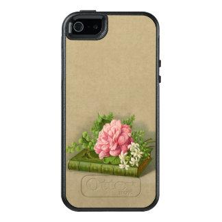 Vintage Blumenpfingstrosen-nobles Buch elegant OtterBox iPhone 5/5s/SE Hülle