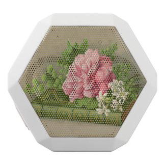 Vintage Blumenpfingstrosen-nobles Buch elegant Weiße Bluetooth Lautsprecher