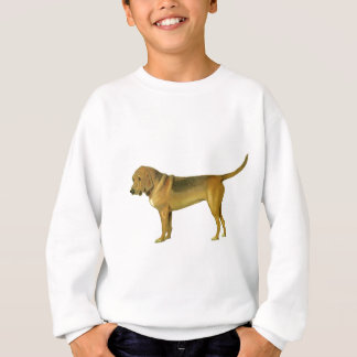 Vintage Blut-Jagdhund-Illustration Sweatshirt