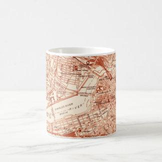 Vintage Boston-Karte Kaffeetasse